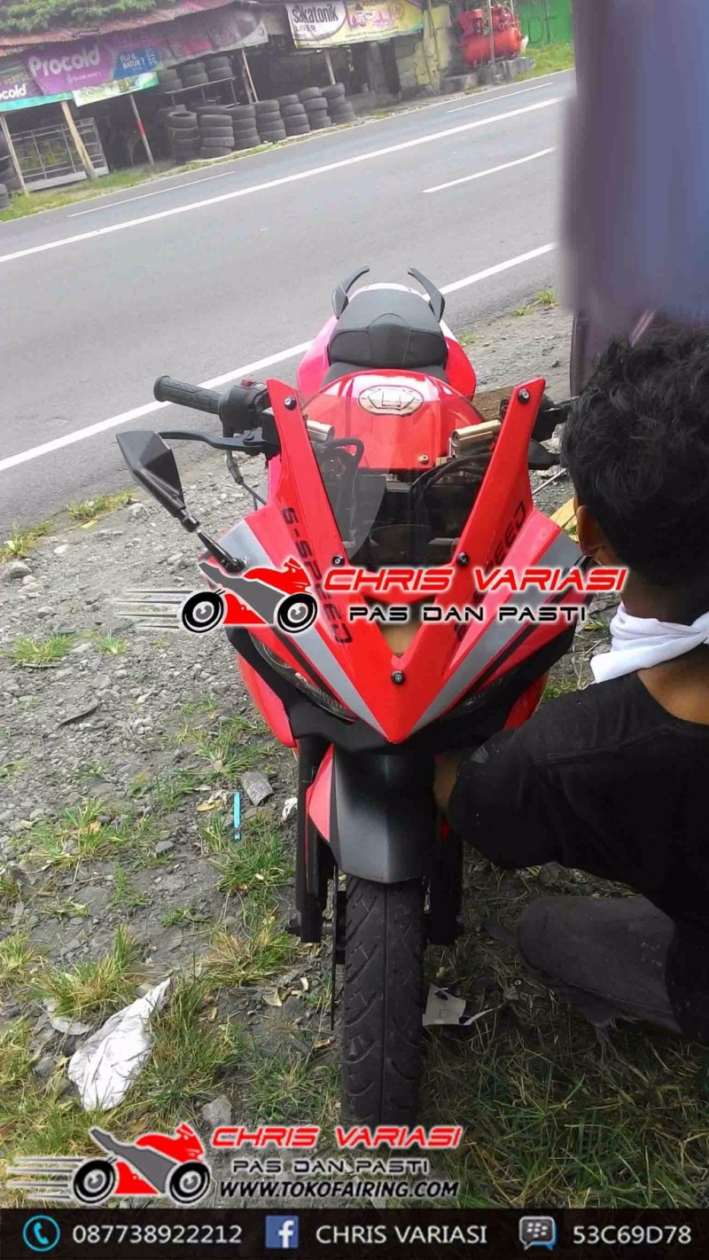 Pulsar 200NS 2016 modif Fairing depan model r25