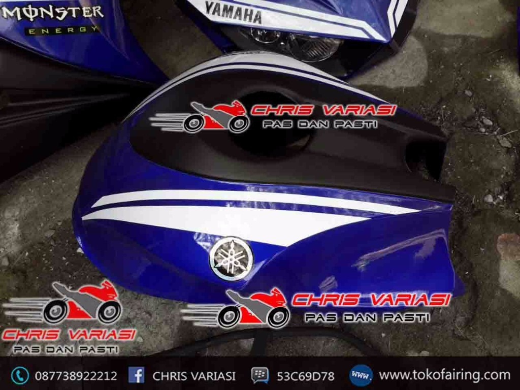 Full Fairing depan model r25 v2 Deep Blue Movistar GP 46 + Cover Tangki
